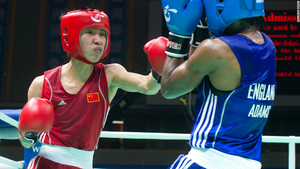 Ren Cancan, three-time world boxing champ, needs to beat five-time world champion Mary Kom of India to take Olympic gold.