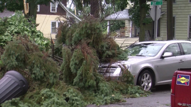 Heavy storm damage in New York