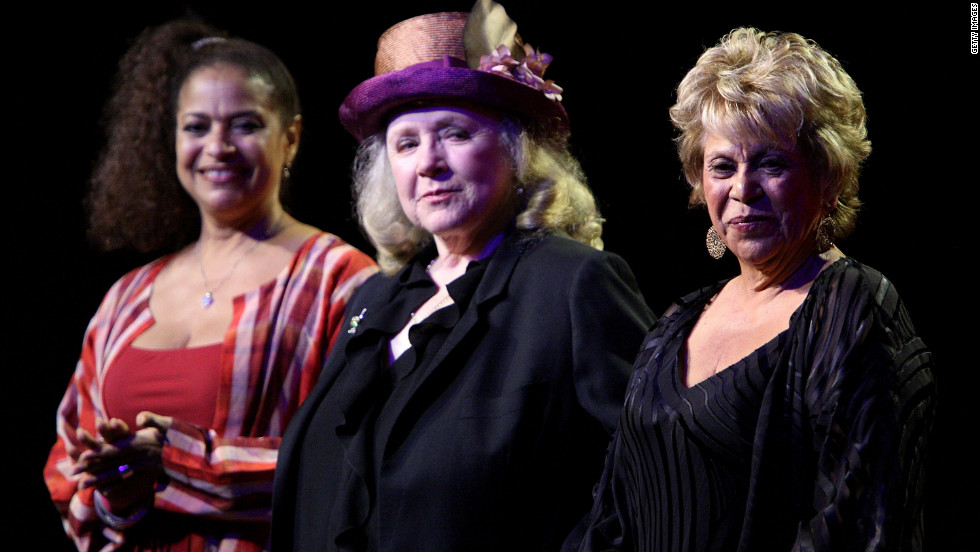 Actresses Debbie Allen, from left, Piper Laurie and Ontiveros accept the Legacy Series Spotlight Award during the Women in Film 2009 Crystal And Lucy Awards.