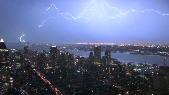 Watch lightning light up NYC skyline