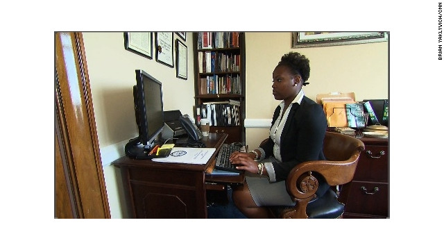 Marchelle Roberts, who grew up in foster care, is now an intern on Capitol Hill.