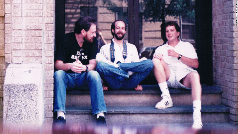 Springer was living in Atlanta by August 25, 1991, but he didn't miss the annual reunion in the Bronx. From left to right: Steven Springer, Steve Haimowitz and Errol Honig