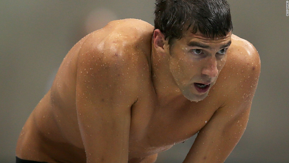 U.S. swimmer Michael Phelps did end up qualifying for eight events but dropped 200-meter freestyle.  Here, he looks on during the men's 4 x 100-meter freestyle relay final on Day 2 of the London Olympics.