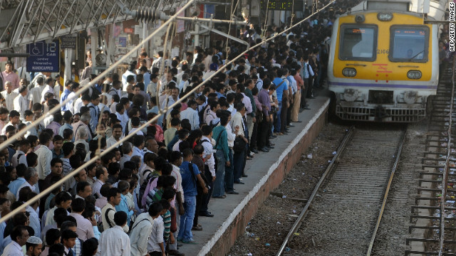 North India was hit by large scale power outages Monday causing massive breakdown in transport systems.