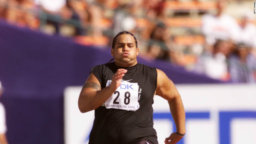 "Since Eric's infamy, the world's press has been on the look for similar anomalies at major championships. One of the best known is Trevor Misipeka from American Samoa, dubbed ""Trevor the Tortoise."" He was penciled in for the shotputt, but an administrative error meant that he had to compete in the 100 meters sprint, which he did in 14.28 seconds."