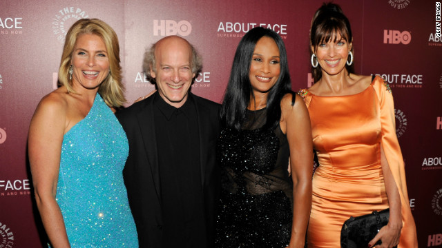 "Kim Alexis, Timothy Greenfield-Sanders, Beverly Johnson and Carol Alt at the ""About Face"" New York premiere."