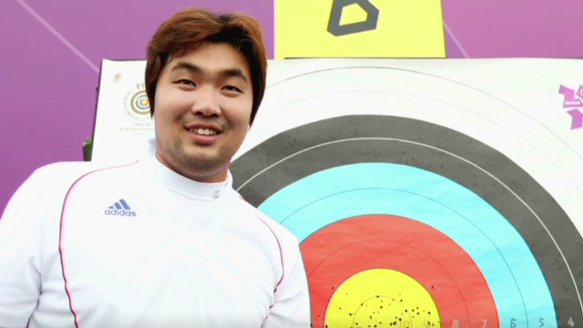 Blind archer gets the gold at Olympics