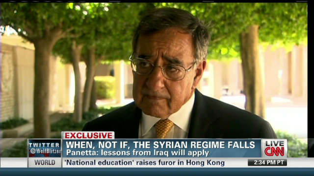 Secretary Panetta on post-Assad Syria