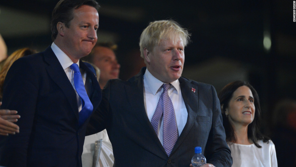 "Responding to Romney's jibe, Britain's Prime Minister David Cameron (L) said, ""Of course it's easier if you hold an Olympic games in the middle of nowhere,"" a reference to Romney's involvement in the 2002 Games in Salt Lake City, Utah. London mayor Boris Johnson (R) also mocked Romney in front of tens of thousands of people in London's Hyde Park."
