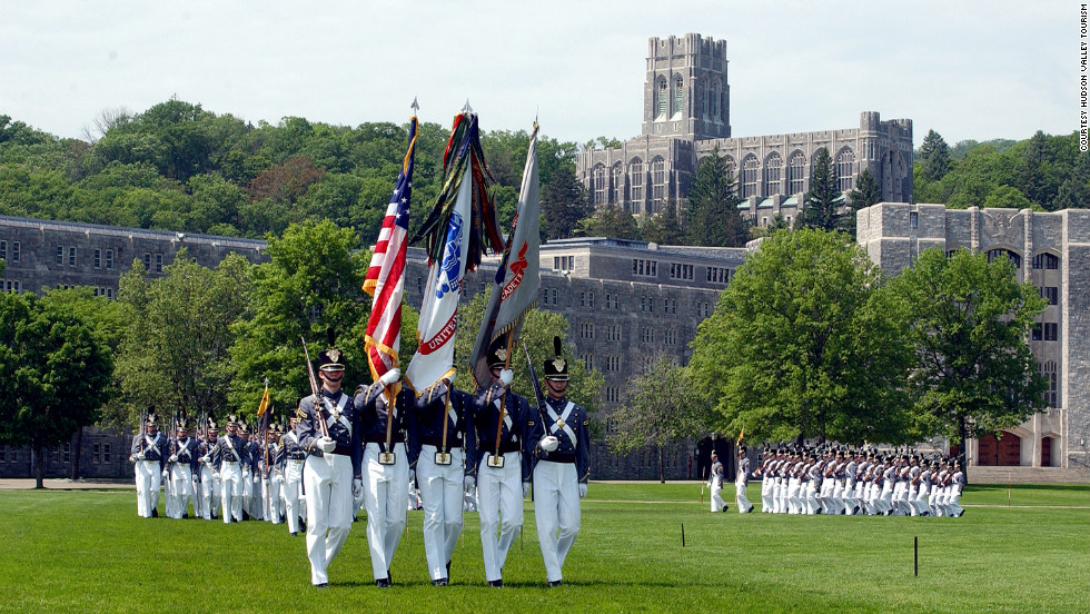 "<a href=""http://www.usma.edu/visitors/SitePages/Home.aspx"" target=""_blank"">Guided tours of the U.S. Military Academy</a> in West Point are available most days. Calling in advance is recommended."