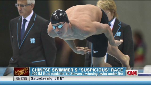 Chinese swimmer's 'suspicious' race