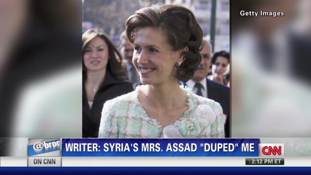 "Writer: Asma Assad ""duped"" me"