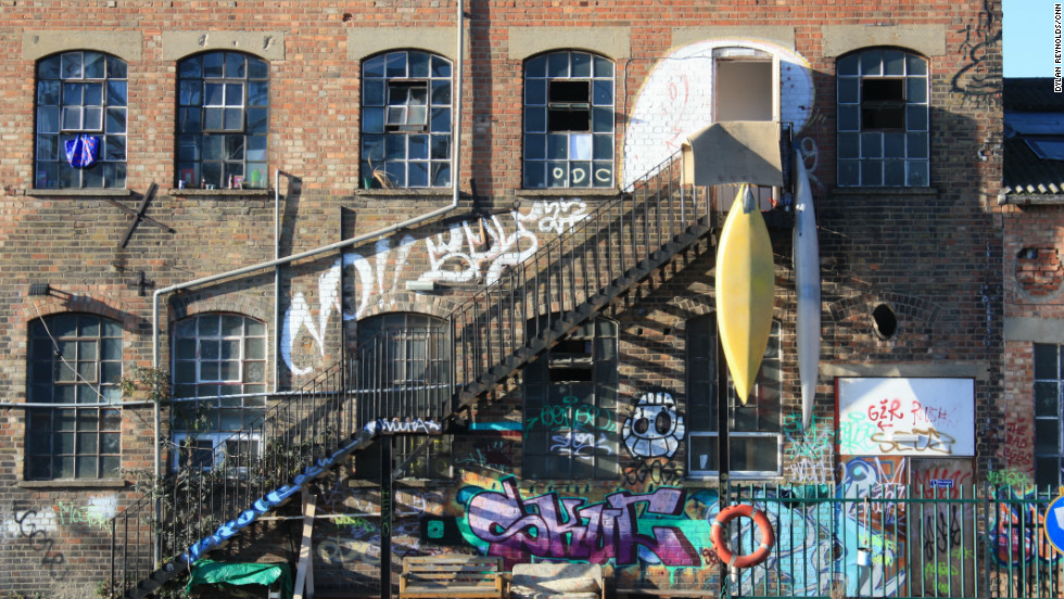 The former factories and warehouses In Hackney Wick, now popular with artists, are also being eyed by property developers.