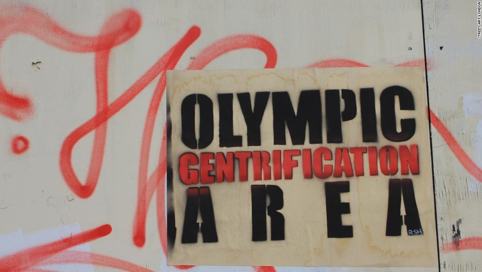"Howard-Griffin describes a ""super-charged wave of gentrification that has crashed around Hackney Wick in anticipation of an Olympic property boom."""