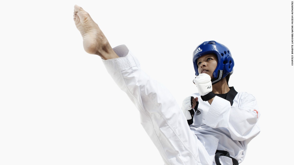 Bahrain's Deena Mahboob is a Taekwondo fighter.
