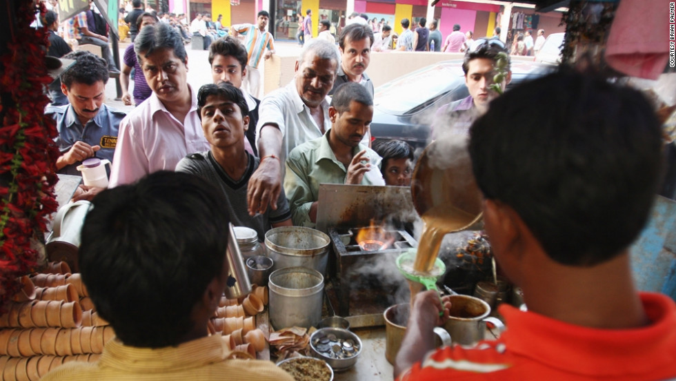 This photo was taken after Palmer talked his way into a tea stall in Kolkata, the capital of West Bengal, in India.