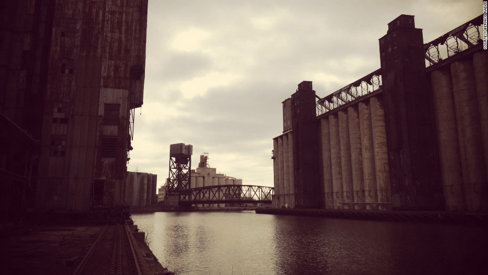 "Bernice Radle took this Instagram shot of Buffalo's ""Silo City"" grain elevators."