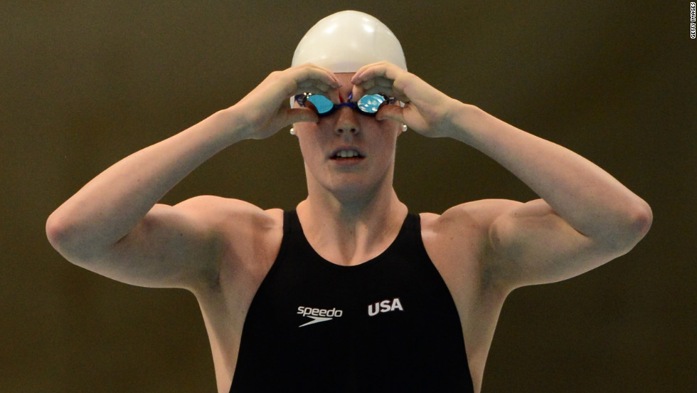 Missy Franklin of the United States prepares for a women's 100-meter freestyle heat Wednesday.