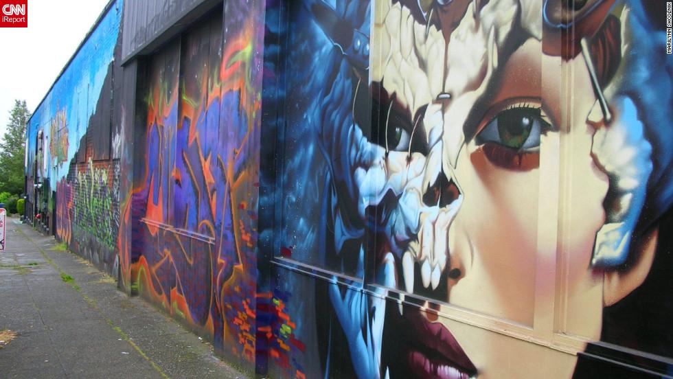 "Street art in <a href=""http://ireport.cnn.com/docs/DOC-797467"">Seattle, Washington</a>."