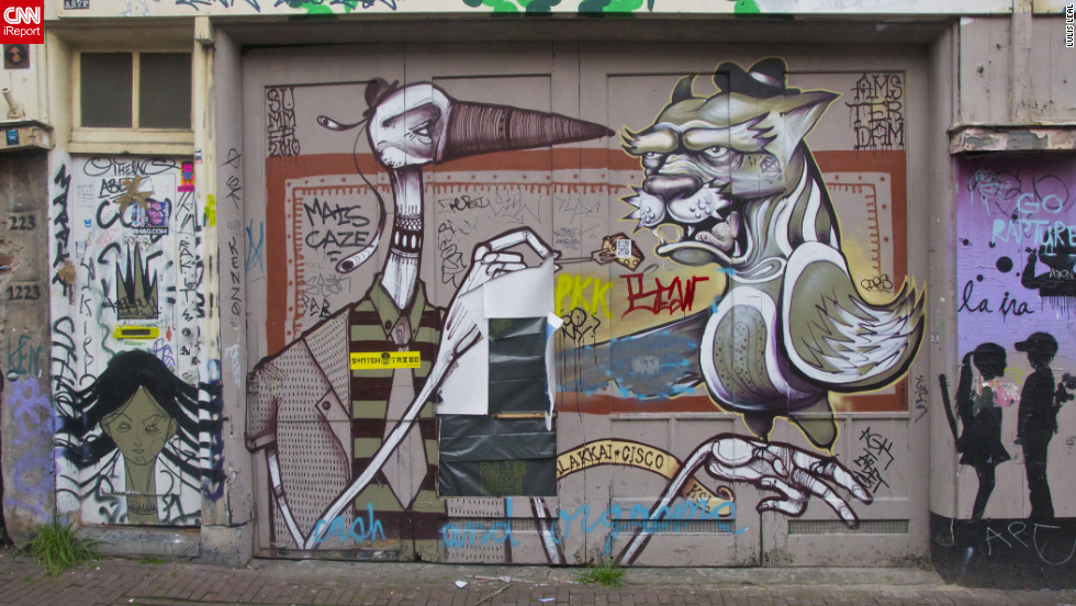 "This street art was captured four years ago by an iReporter in <a href=""http://ireport.cnn.com/docs/DOC-795011"">Amsterdam, Netherlands</a>."