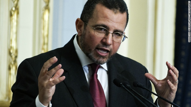 This file photo shows Egyptian Prime Minister Hisham Qandil in 2012.