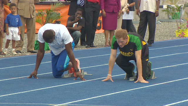 Prince Harry, aspiring Olympic athlete