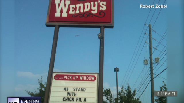 Wendy's store owner supports Chick-fil-A