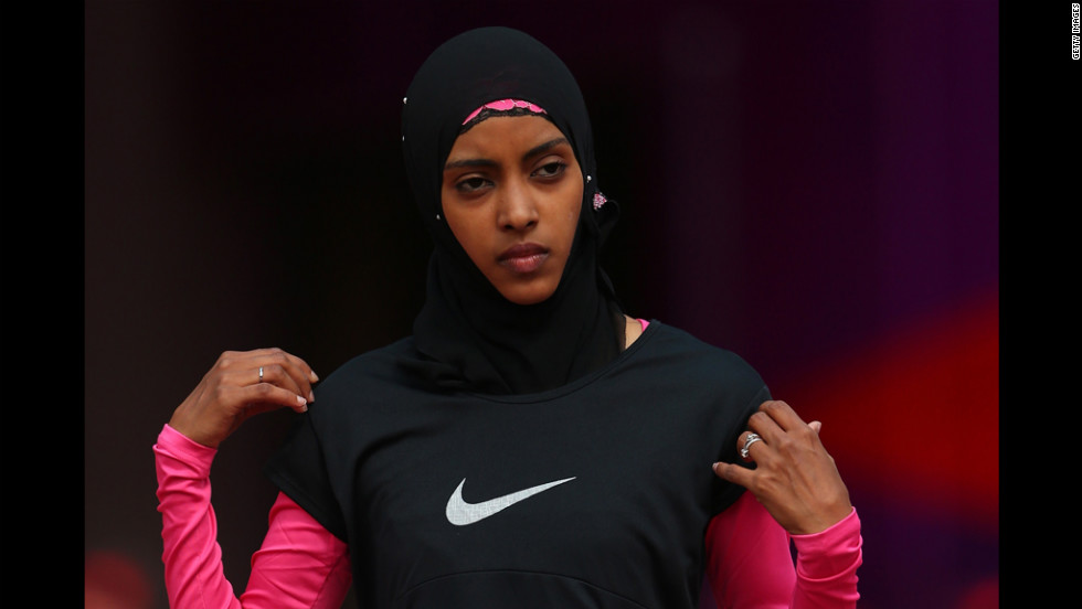 Fatima Sulaiman Dahman of Yemen competes in women's 100-meter heats.