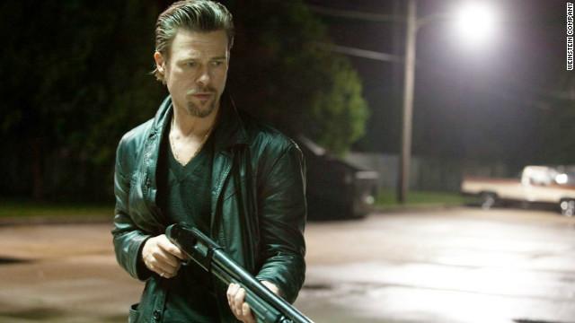 "Brad Pitt stars as professional killer Cogan in ""Killing Them Softly."""