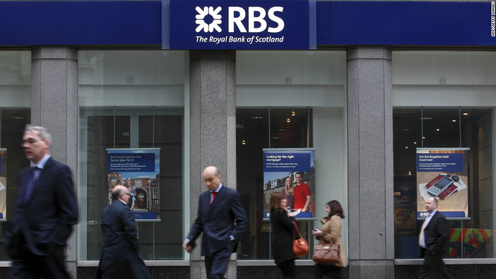 The Royal Bank of Scotland was forced to pay the amount in June 2012 for manipulating bank Libor rates.