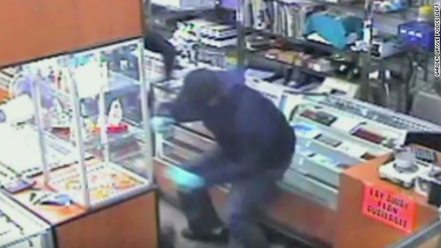 Robbers run for door after owner shoots