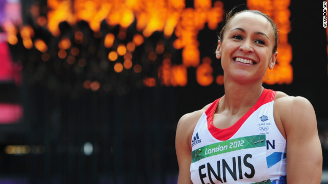 UK's Jessica Ennis wins heptathlon gold