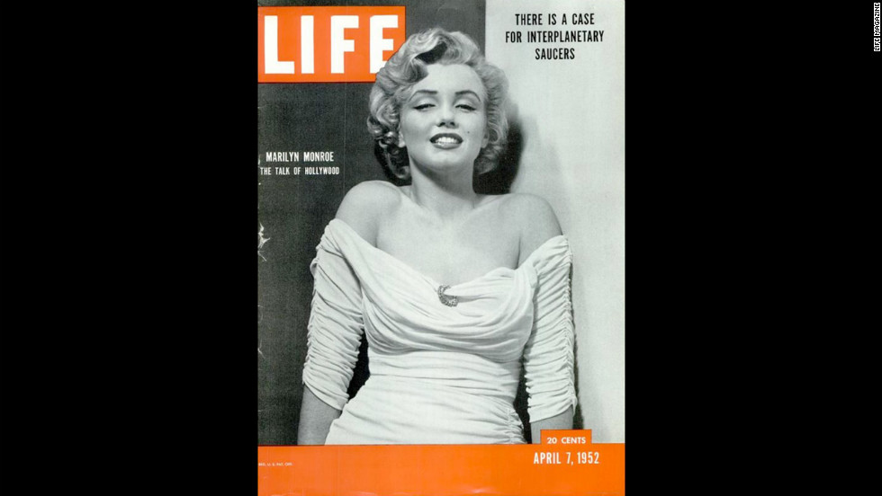 "Marilyn Monroe's debut on the cover of LIFE Magazine, photographed by Philippe Halsman. See more from this series on <a href=""See more from this series on Life.com."" target=""_blank"">LIFE.com</a>."