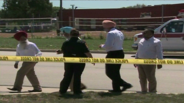 Police at scene of Sikh temple shooting
