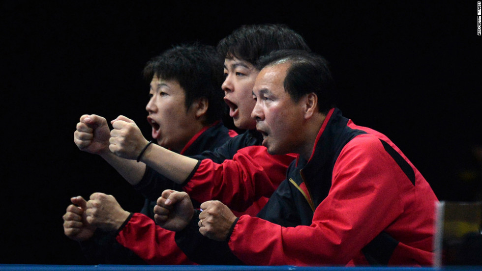 "Members of Japan's table tennis team put on their hilarious ""Driver's Ed"" sketch during a match."