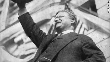 1912: America's youngest president, Theodore Roosevelt (1858-1919), who succeeded William McKinley after his assassination. Roosevelt was a popular leader and the first American to receive the Nobel Peace Prize, which was awarded for his mediation in the Russo-Japanese war.