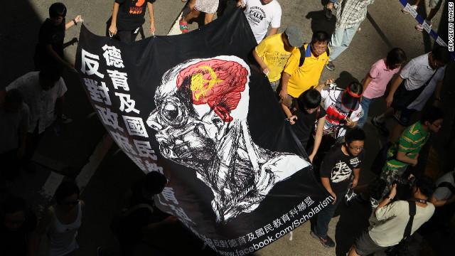 China's critics cry 'brainwashing'