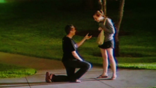Couple's secret proposal is a viral hit