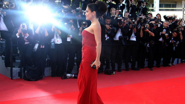Canne's annual film festival draws international celebrities such as Salma Hayek.
