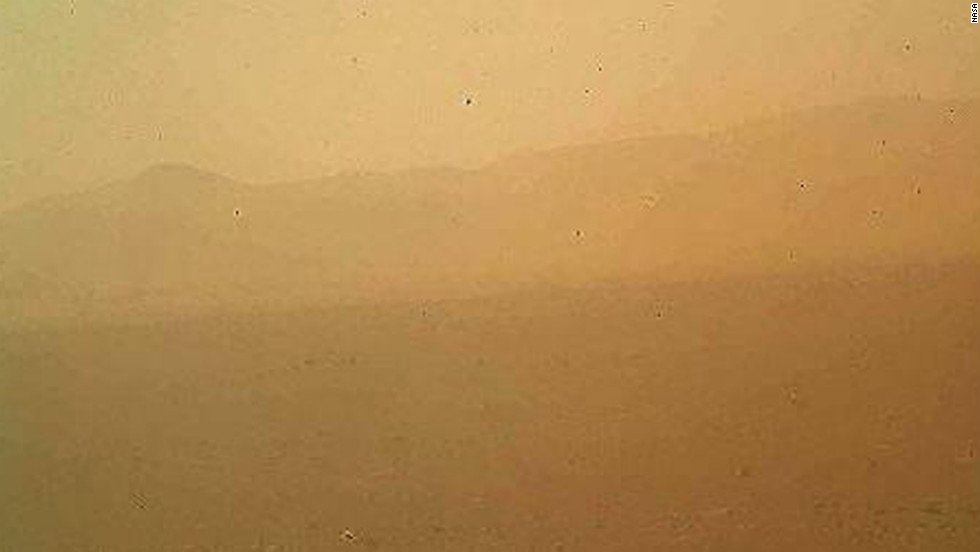 This view of the landscape to the north of NASA's Mars rover Curiosity was acquired by the Mars Hand Lens Imager on the first day after landing.