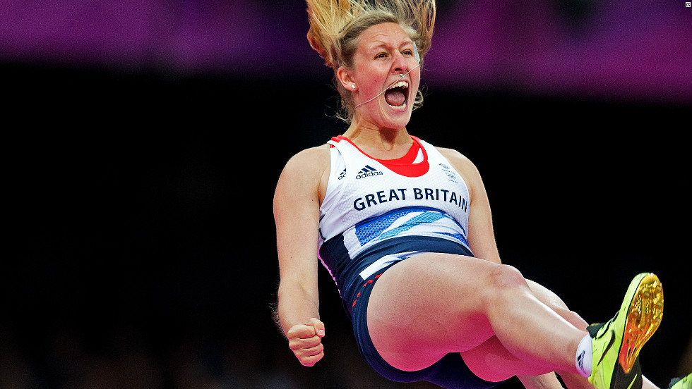 Despite her delight after this jump, Great Britain's Holly Bleasdale could only finish joint sixth in the women's pole vault final.
