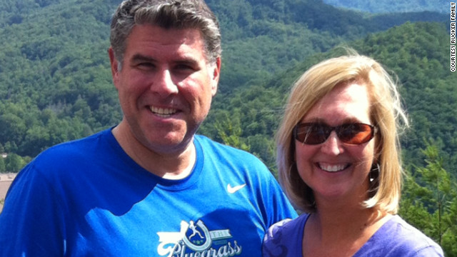 Rucker and his wife, Annita, pose for a photo in Gatlinburg in June.