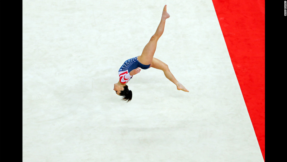 Jordyn Wieber of the United States competes during the gymnastics women's floor exercise final.