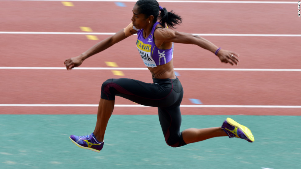 United Kingdom jumper Yamilé Aldama, 39, competed in the triple jump on Day 9 of the Summer Games. She'll be 40 this month.