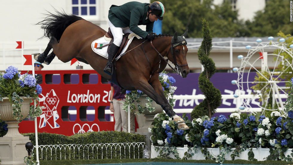 Ireland's Cian O'Connor took bronze in the individual jumping event on Blue Loyd 12.