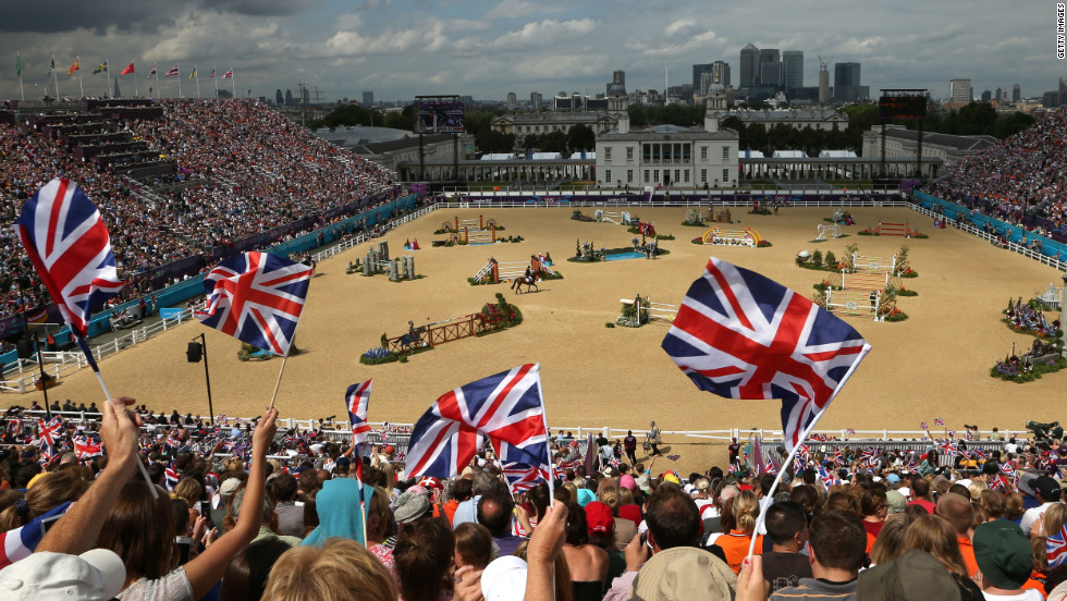 The equestrian events were held at Greenwich Park, a historic part of south-east London near the site of the city's observatory and maritime museums.