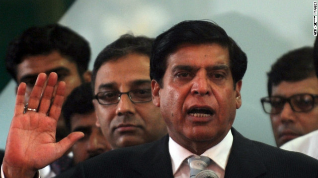 Pakistan's new Prime Minister Raja Pervez Ashraf, pictured on June 25, 2012, is accused of not pushing Swiss authorities to reopen a corruption investigation.