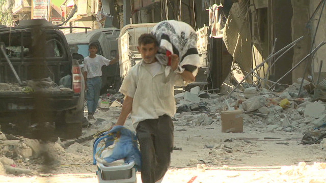 Watch Syrian city deal with civil war