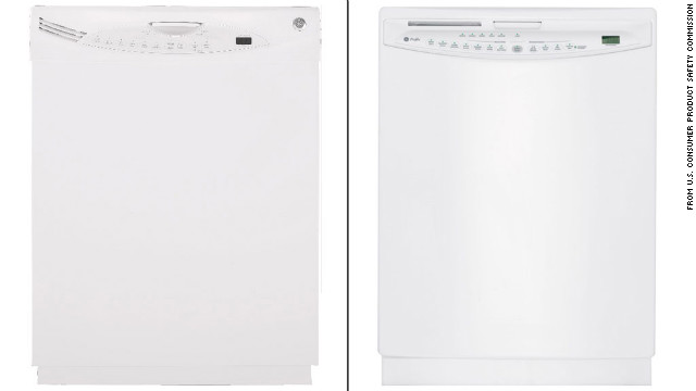 A recalled model of the GE dishwasher.