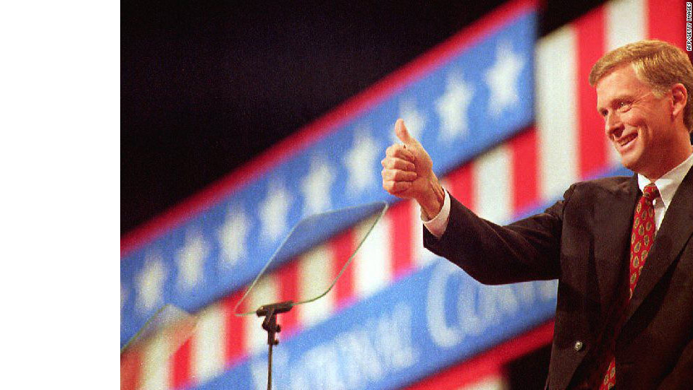 """In a 1988 debate, vice presidential candidate Dan Quayle (pictured) was on the receiving end of the """"Senator, you're no Jack Kennedy"""" jab from Lloyd Bentsen."""